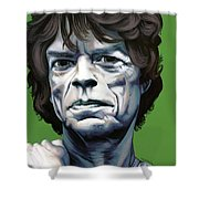 Jagger Shower Curtain by Kelly Jade King