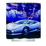 Jaguar 220 Shower Curtain by Garry Walton