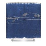 Jaguar E Type Shower Curtain by Naxart Studio