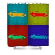 Jaguar E Type Pop Art 1 Shower Curtain by Naxart Studio
