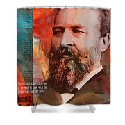 James A. Garfield Shower Curtain by Corporate Art Task Force