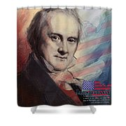 James Buchanan Shower Curtain by Corporate Art Task Force