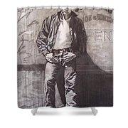 James Dean Shower Curtain by Sean Connolly