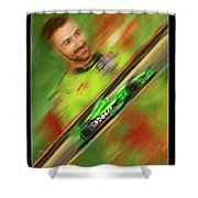James Hinchcliffe Shower Curtain by Blake Richards