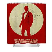 James Poster Red 3 Shower Curtain by Naxart Studio