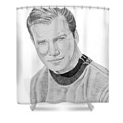 James Tiberius Kirk Shower Curtain by Thomas J Herring