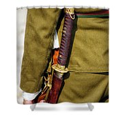 Japanese Sword WW II Shower Curtain by Thomas Woolworth