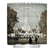 Jardin Des Tuileries Park Paris France Europe  Shower Curtain by Jon Boyes