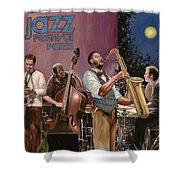 jazz festival in Paris Shower Curtain by Guido Borelli