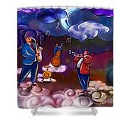 Jazz In Heaven Shower Curtain by Bedros Awak