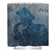 Jazz Man Shower Curtain by Dan Sproul