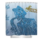 Jazz Saxophone Shower Curtain by Dan Sproul