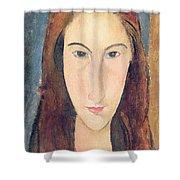 Jeanne Hebuterne Shower Curtain by Amedeo Modigliani