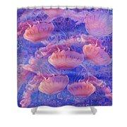 Jellyfish Shower Curtain by Jack Zulli