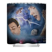 Jeremiah One Five Shower Curtain by Joseph Juvenal