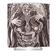 Jerry Garcia . . Magic Is What We Do - Music Is How We Do It Shower Curtain by Sean Connolly