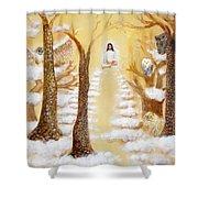 Jesus Art - The Christ Childs Asleep Shower Curtain by Ashleigh Dyan Bayer