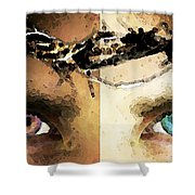 Jesus Christ - How Do You See Me Shower Curtain by Sharon Cummings