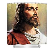 Jesus Christ Shower Curtain by Munir Alawi