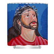 Jesus Hand Embroidery Shower Curtain by To-Tam Gerwe