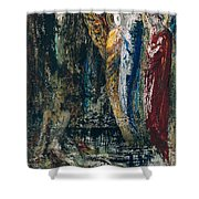 Job and the Angels Shower Curtain by Gustave Moreau