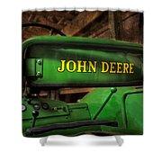 John Deere Tractor Shower Curtain by Susan Candelario