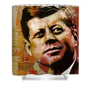 John F. Kennedy Shower Curtain by Corporate Art Task Force