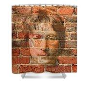 John Lennon 2 Shower Curtain by Andrew Fare