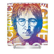 John Lennon Pop Art Shower Curtain by Jim Zahniser