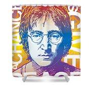 John Lennon Pop Art Shower Curtain by Jim Zahniser