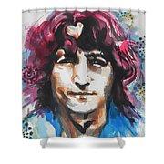 John Lennon..up Close Shower Curtain by Chrisann Ellis