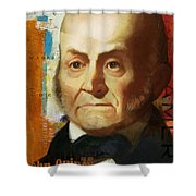 John Quincy Adams Shower Curtain by Corporate Art Task Force
