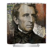 John Tyler Shower Curtain by Corporate Art Task Force