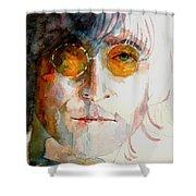 John Winston Lennon Shower Curtain by Paul Lovering
