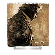 Johnny Cash Artwork Shower Curtain by Sheraz A