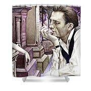 Johnny Cash-hurt Shower Curtain by Joshua Morton