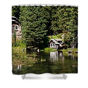 Johnny Sack Cabin Shower Curtain by Robert Bales