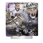Jonathan Quick Collage Shower Curtain by Mike Oulton