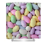 Jordan Almonds - Weddings - Candy Shop - Square Shower Curtain by Andee Design