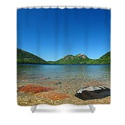 Jordan Pond And The Bubbles Shower Curtain by Juergen Roth