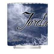 Jordan - Wise In Judgement Shower Curtain by Christopher Gaston