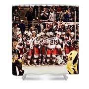Joy Of Victory Agony Of Defeat Shower Curtain by Karol Livote