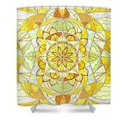 Joy Shower Curtain by Teal Eye  Print Store
