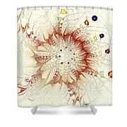 Juggle Shower Curtain by Anastasiya Malakhova