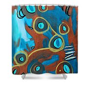 Juggling Act Shower Curtain by Donna Blackhall