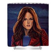 Julianne Moore Shower Curtain by Paul Meijering