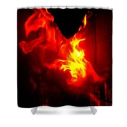 Jumping Dragon Shower Curtain by Hilde Widerberg