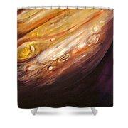 Jupiter Shower Curtain by Sheila Diemert