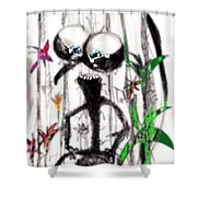 Just Amazed Shower Curtain by Marcello Cicchini