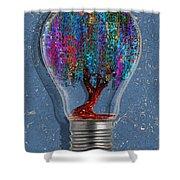 Just An Idea Shower Curtain by Jack Zulli